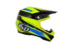 Crosshjälm 6D PILOT HELMET NEON YELLOW/BLUE/BLACK