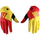 DEFT FAMILY CHOICE GLOVES YELLOW/RED