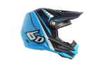 Crosshjälm 6D ATR-1 EDGE HELMET NEON BLUE GREY