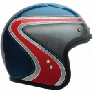 BELL CUSTOM 500 AIRTRIX MC HELMET BLUE/RED