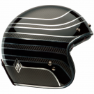 BELL CUSTOM 500 RDS CARBON MC HELMET BLACK/SILVER