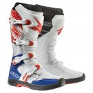 AXO MX ONE BOOT WHITE/BLUE