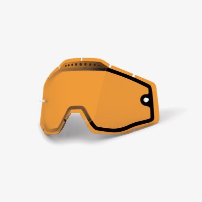 100%, Lens Vented Dual Anti-Fog, Persimmon, ORANGE