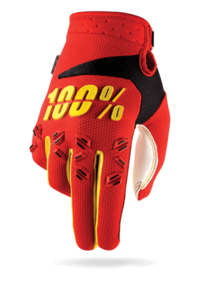 100% Airmatic Glove Red/Yellow