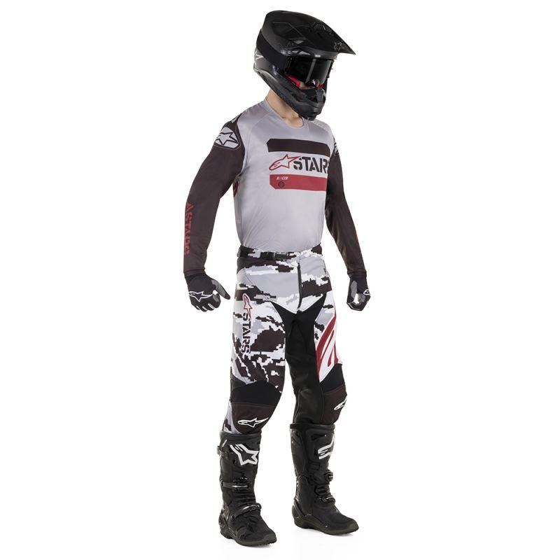 Crossbyxor Alpinestars byxor Racer Tactical, svartcamo grå